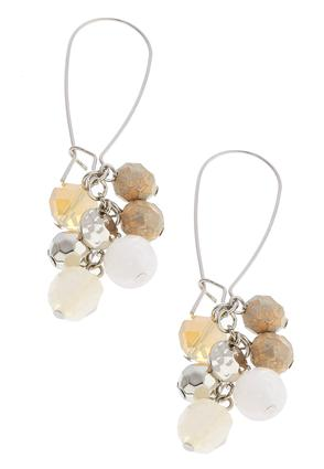Ivory Cluster Bead Earrings