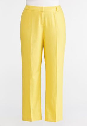 Linen Trouser Pants-Plus Petite | Tuggl