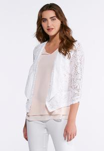 Allover Lace Knit Jacket