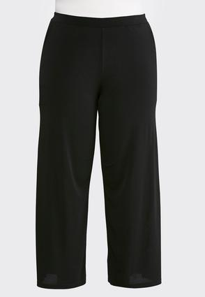 Plus Petite Black Side Slit Palazzo Pants