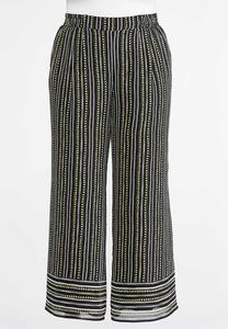 Plus Size Dashes And Dots Palazzo Pants
