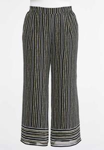 Plus Petite Dashes And Dots Palazzo Pants