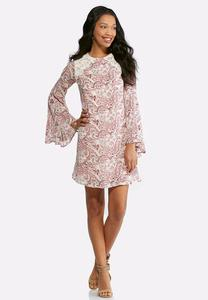 Plus Size Lace Swirl Floral Swing Dress
