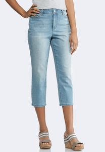 Cropped Light Wash Skinny Jeans