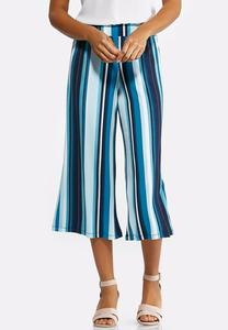 Cropped Seaport Stripe Palazzo Pants