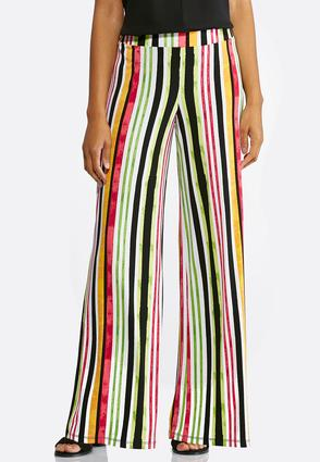 Petite Citrus Stripe Palazzo Pants at Cato in Brooklyn, NY | Tuggl