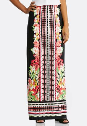 Plus Size Climbing Floral Maxi Skirt at Cato in Sparta, TN | Tuggl