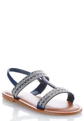 Wide Width Embellished Slingback Sandals | Tuggl