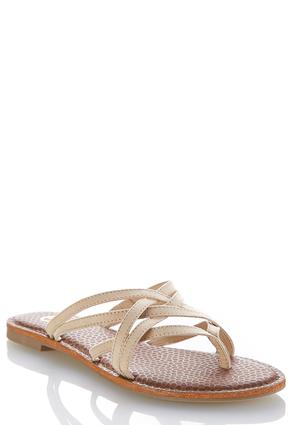 Cross Strap Thong Sandals | Tuggl