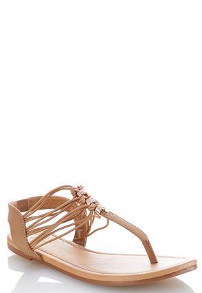 Embellished Stretch Slingback Sandals | Tuggl