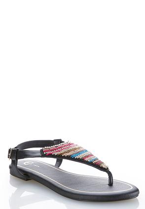 Seed Bead Thong Sandals | Tuggl