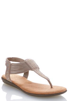 Stretch Band Embellished Sandals   Tuggl