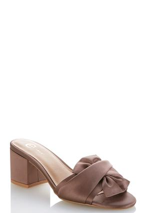 Twisted Bow Heeled Slides at Cato in Brooklyn, NY | Tuggl