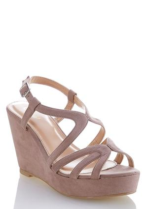 Faux Suede Wedge Sandals at Cato in Brooklyn, NY | Tuggl