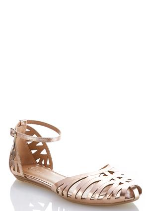 Two-Piece Caged Flats | Tuggl