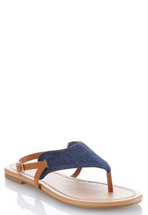 Denim Thong Sandals   Tuggl