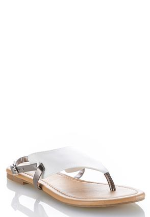 Faux Leather Thong Sandals   Tuggl