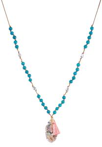 Clustered Iridescent Stone Necklace