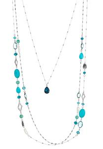 Layered Glass Bead Necklace