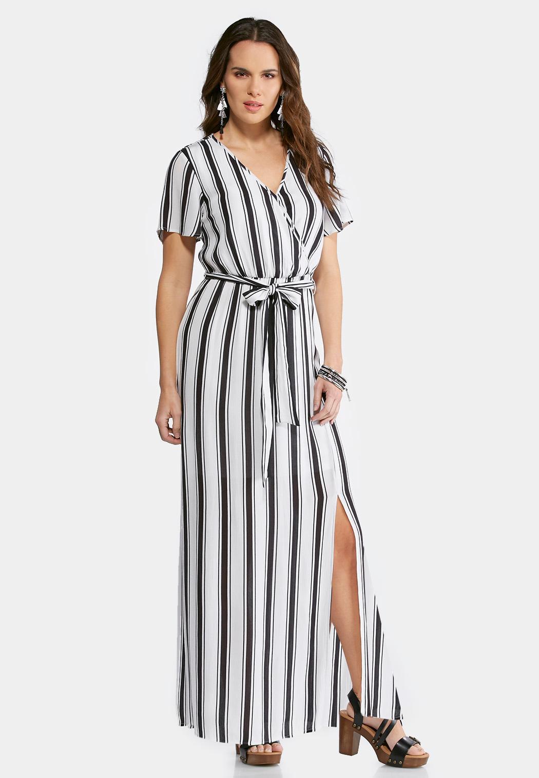 Wrap maxi plus size dresses