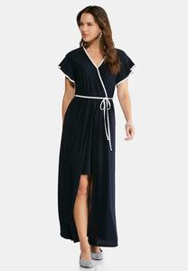 Plus Size Overlay Maxi Dress