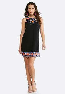 Crepe Embroidered Dress