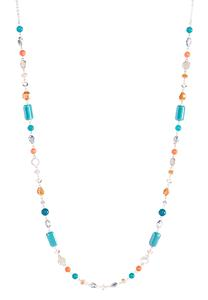 Long Single Row Beaded Necklace