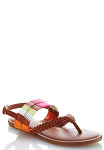 Thread Wrapped Slingback Sandals