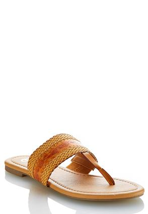 Woven Strap Thong Sandals | Tuggl