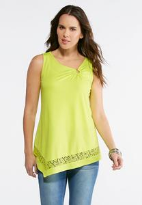 Asymmetrical Ring Embellished Top