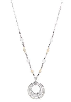 Layered Circle Pendant Necklace