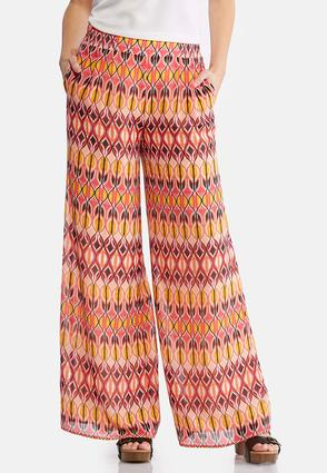Petite Pink Deco Palazzo Pants at Cato in Brooklyn, NY | Tuggl