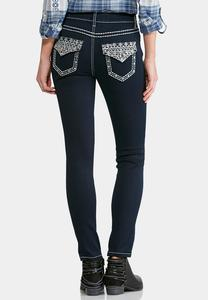 Decorative Stitch Super Skinny Jeans
