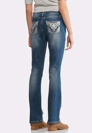 Sequin Swirl Bootcut Jeans- Petite