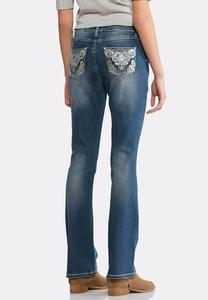 Sequin Swirl Bootcut Jeans-Petite