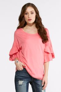 Ruffled Tulip Sleeve Top