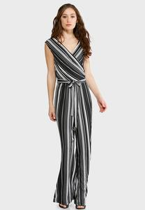 Striped Black and White Jumpsuit