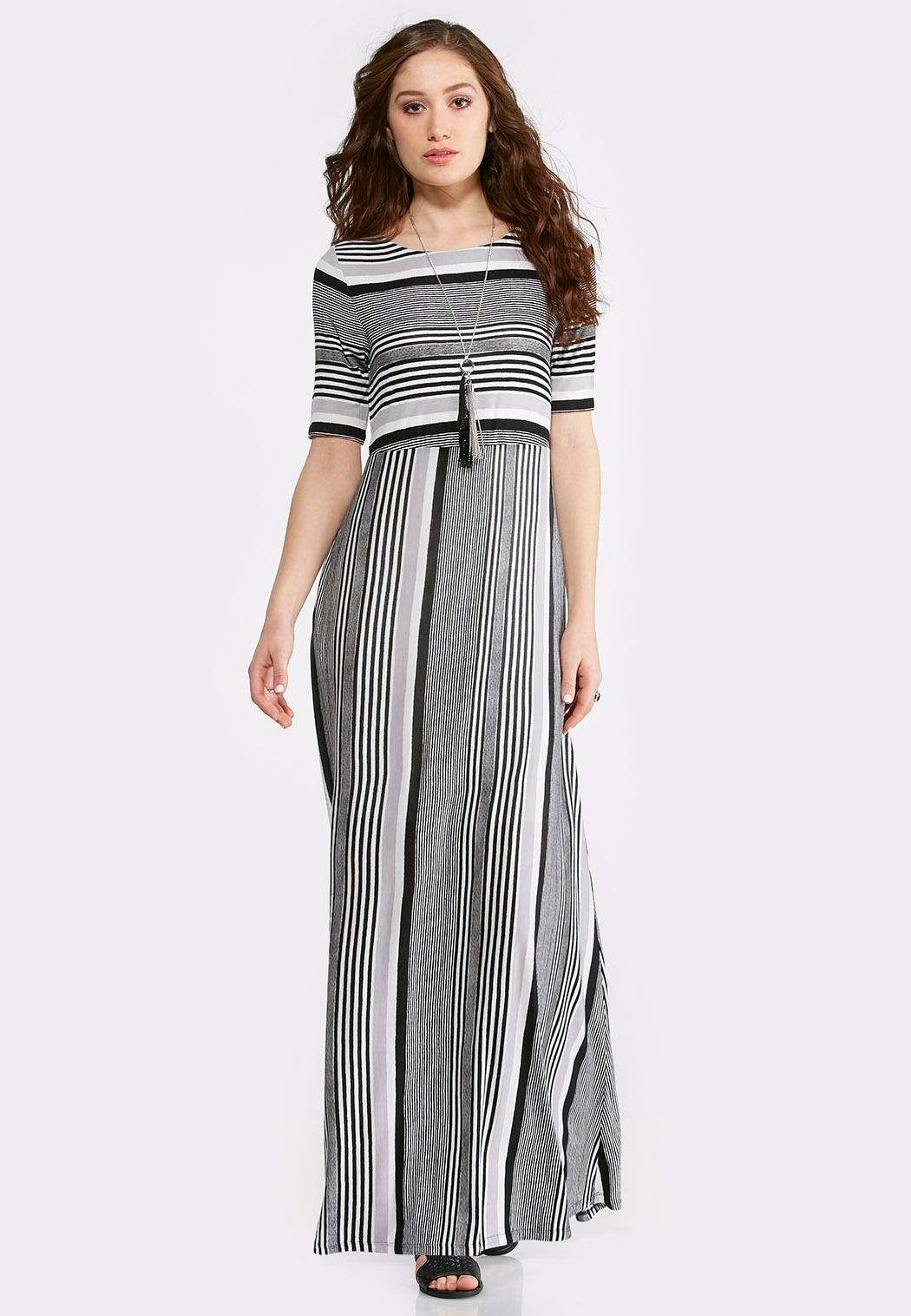 Long Striped Maxi Dress