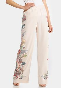 Floral Side Palazzo Pants