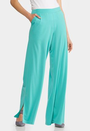 Petite Solid Split Leg Palazzo Pants at Cato in Brooklyn, NY | Tuggl