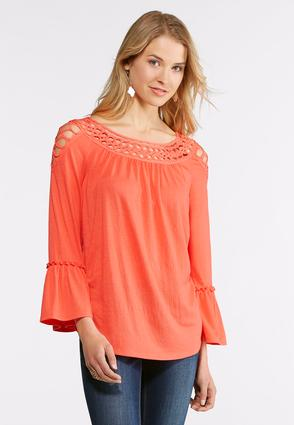 Soutache Bell Sleeve Top