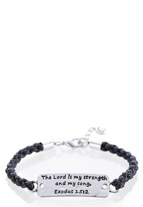 Inspirational Braided Cord Bracelet | Tuggl