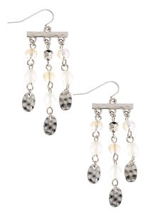 Bead And Silver Fringe Earrings