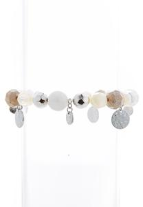 Ivory Bead Stretch Bracelet