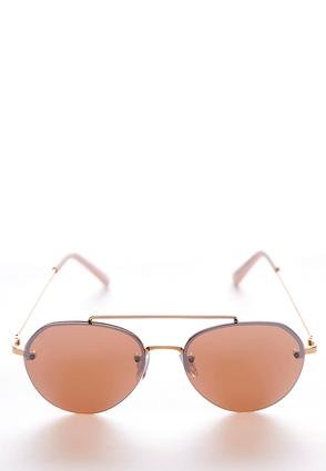 Metal Bar Round Sunglasses