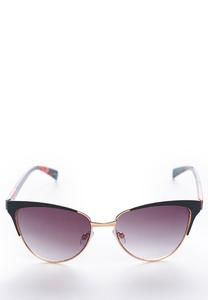 Enamel Bordered Cateye Sunglasses
