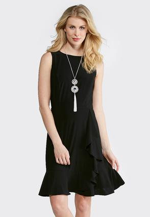 Solid Ruffled Sheath Dress at Cato in Brooklyn, NY | Tuggl
