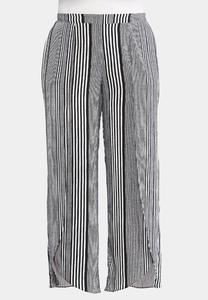 Plus Size Black And White Tulip Pants