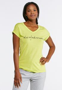 Plus Size Relax Refresh Reconnect Tee