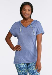 Hooded Slub Athleisure Shirt